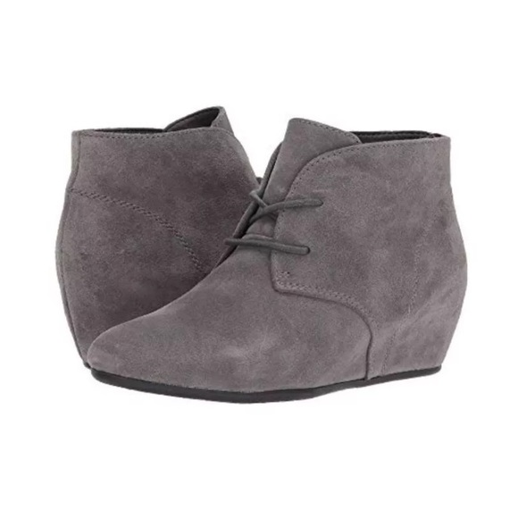 02cea387ff1d Nine West Joanis Grey Suede Lace Up Booties 7.5. M 5b3c28e1baebf67218f16545